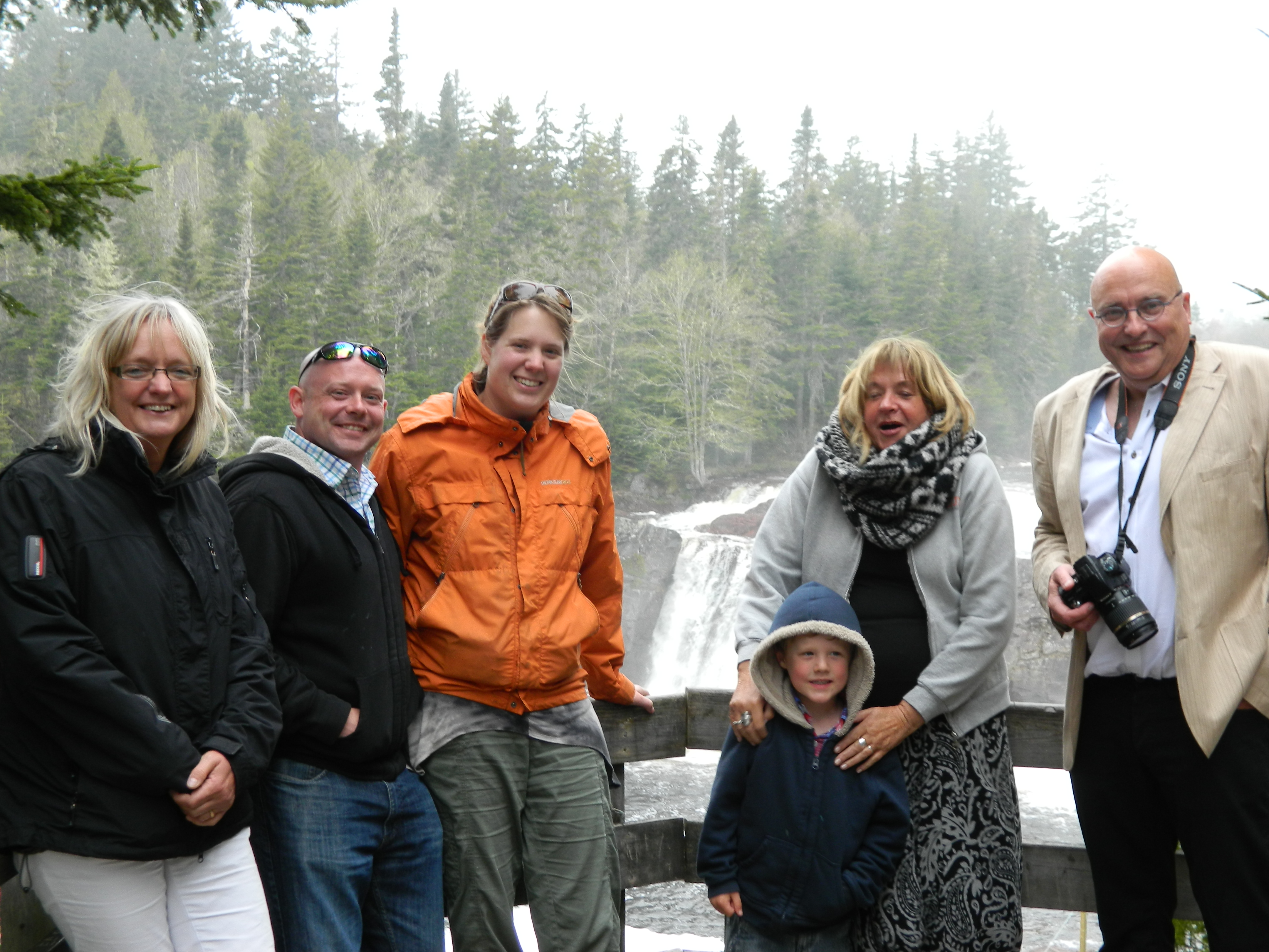 Family picture at Lepreau falls